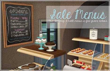 Sale Menus