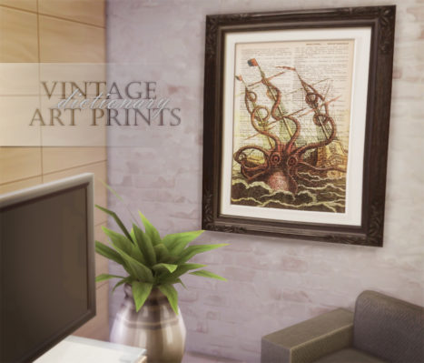 Vintage Dictionary Art Prints