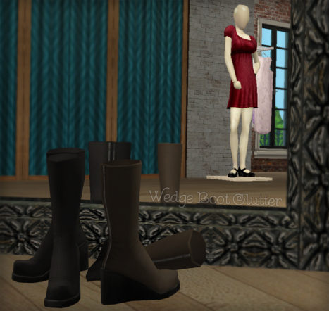 Wedge Boots Clutter